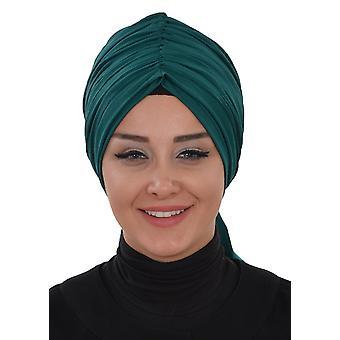 Envoltura de turbante de algodón con detajler en algodón - Amy