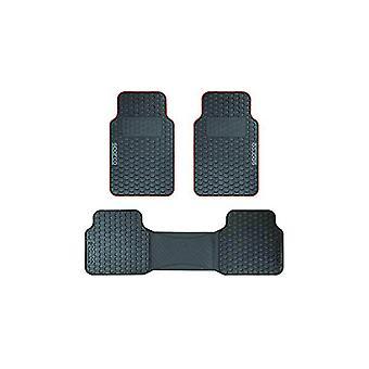 Auton lattiamattosarja Sparco F500 Universal Musta/Punainen (3 kpl)