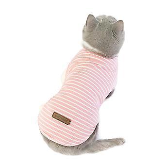 Vêtements de chat été vêtements de cinq couleurs gilet pour animaux de compagnie