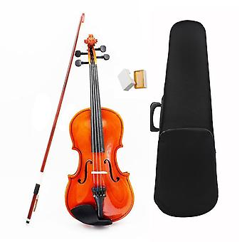 1/8 Size Acoustic Violin With Fine Case Bow Rosin Bridge For Age 3-6 M8v8