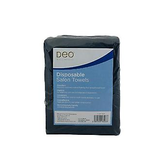 DEO Professional Disposable Salon Towels - Black - 100% Viscose - Pack of 50