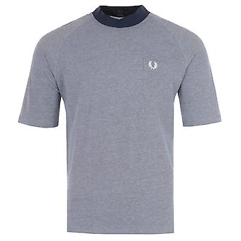 Fred Perry Reissues Two Tone Pique T-Shirt - Carbon Blue