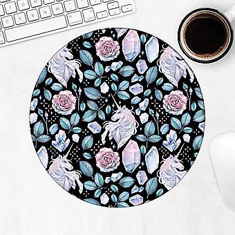 Gift Mousepad: Fairytale Unicorn Diamonds