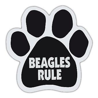 Dog Paw Magnet - Beagles Rule