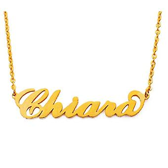 Kigu Chiara - Necklace with custom name, gold color packaging
