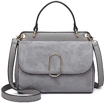FengChun Frauen Top Griff Tasche Wildleder Handtaschen Schulter Umhängetasche für Arbeit Shopping Reise Pu