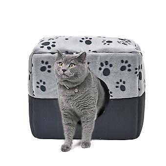 Foldable Cave House Shape Nest Pet Sleeping Bed pentru pisici și câini mici
