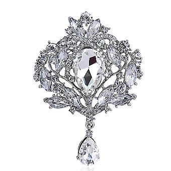 Damen Brosche übertrieben Corsage Diamant eingelegt Glas Brosche Pin