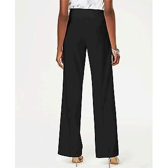 INC International Concepts Womens INC Wide-Leg Crêpe Side Zip High Waist Pants
