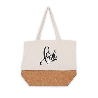 متعددة الاستخدامات حقيبة الحب الأبيض النسيج (15 × 36 × 45 سم)