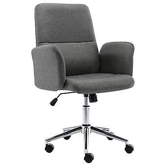 vidaXL مكتب كرسي النسيج الرمادي الداكن