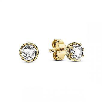 Orecchini Unghie auricolari Sparkling Crown Colorless Pandora Pandora Moments - 268311C01 Piatto d'oro