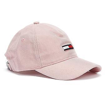 Tommy Jeans Vlajka Wash Denim Dámské Růžové Čepice