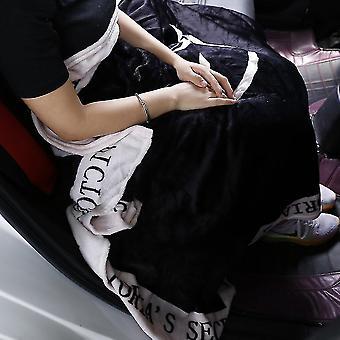 Portable Blanket Fleece Bedding Throws On Sofa Bed Car Plaids Bedspread