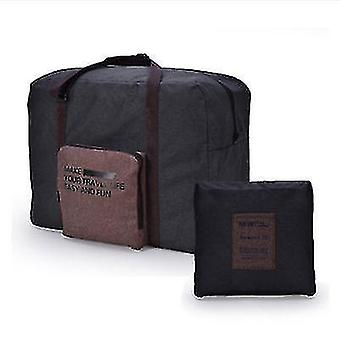 Foldable Travel Bag Can Be Put On The Luggage Trolley Large-capacity Waterproof Storage Bag(Black)