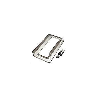 2 pcs sliver aço inoxidável quadros de placa com tampas de parafuso tag enseada