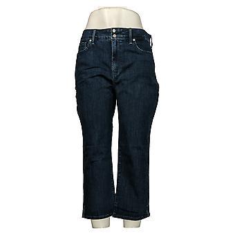 NYDJ Jeans Femme Cool Embrace Skinny Crop Side Fentes Bleu A377692