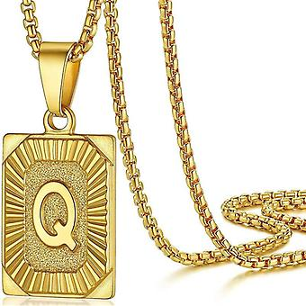 """925 Silve Initial Alphabate """"Q""""Letter Necklace - 20 inch"""
