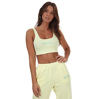 Women's Gym King Ambition Crop Top in Yellow