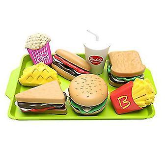 Levehető szimuláció Hamburger sült krumpli Gyermek-apos;s Játszóház oktatási játék szett