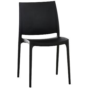 Esszimmerstuhl - Esszimmerstühle - Küchenstuhl - Esszimmerstuhl - Modern - Schwarz - 44 cm x 50 cm x 81 cm