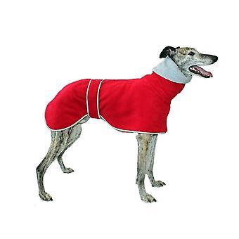 Dog apparel greyhound polo coat  76 cm  red