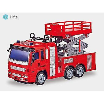 Toy cars rc engineering truck mixing crane dump car model children's toys boys birthday christmas gifts red