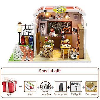 Diy Miniatur Puppenhaus Kit Puppenhaus Möbel handgefertigt Modell Zimmer Box Spielzeug für Kinder Weihnachten