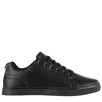 Fabric Mens Low Top Trainers Sneakers Sports Shoes Lace Up Padded Tongue