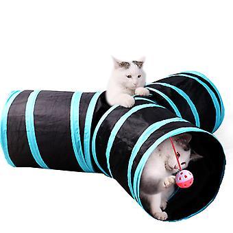 Cat Tunnel Cat Play, Pet Tunnel 3 Wege Faltbare Röhre Spielzeug Kaninchen Tunnel, Geeignet