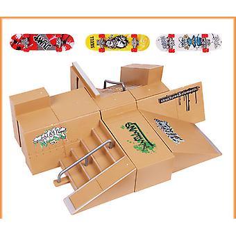 Beculertycreative Jouets pour enfants Finger Ramp Parts Skateboard Venue Props Matching Combination Venue Entertainment Toy Set