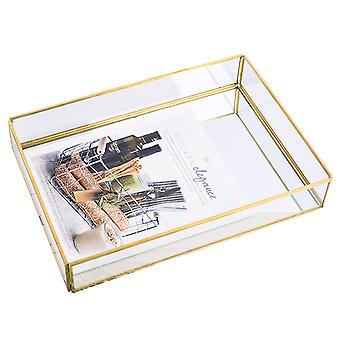 Tray Mirror Gold Mirror Tray Perfume Plate Makeup Plate Dressing Table