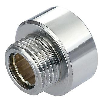 Round Female x Male Pipe Reduction Fittings Chrome 1/2