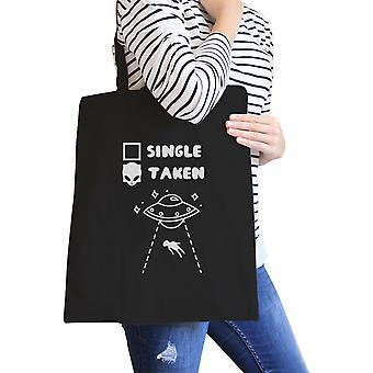 Single retirado alienígena preto lindo saco de ombro Tote de Design exclusivo