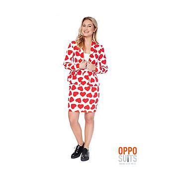 Drottningen av hjärtan damer kostym Opposuit Slimline 2 premium EU storlekar
