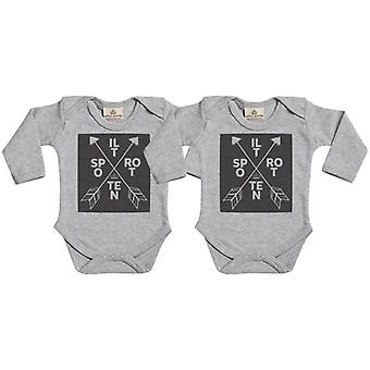 Gâté pourri Babygrow Twins Set