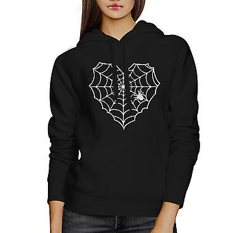 Spider Web Halloween Horror Nights tröja Hoodie svart Unisex topp