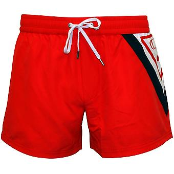 Guess Classic Logo Swim Shorts, Coral/Red