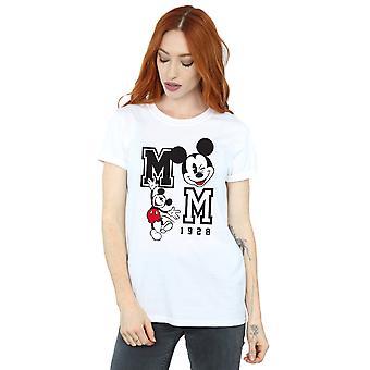 Disney Mickey Mouse Sprung und Augenzwinkern Freund Fit Frauenunterhemde