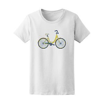 Amarillo bicicleta Vintage Tee - imagen de Shutterstock