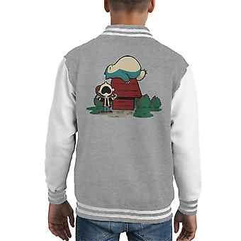 Peanuts Snorlax Snoopy Kid's Varsity Jacket