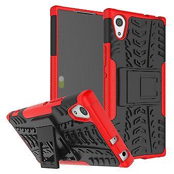 Hybrid tilfelle 2 stykke Koczian robot rød for Sony Xperia XA1 bag coveret beskyttelse