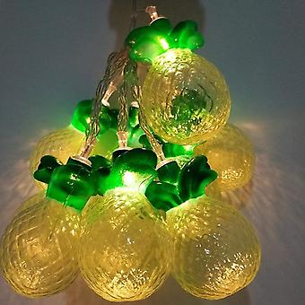 10 LED Pineapple String Lights Warm White Curtain Bedroom Decorative LED Lights