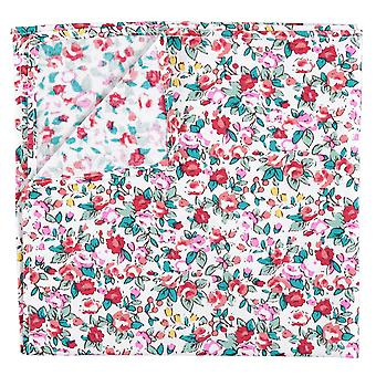 Burgundy Floral Sage Cotton Pocket Square