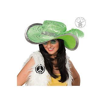 Kapelusz zielony hippie kapelusze