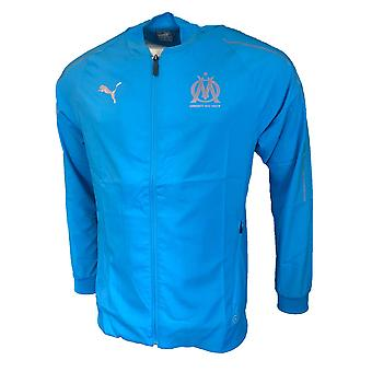 2018-2019 Olympique Marseille Puma Woven Jacket (Blue)