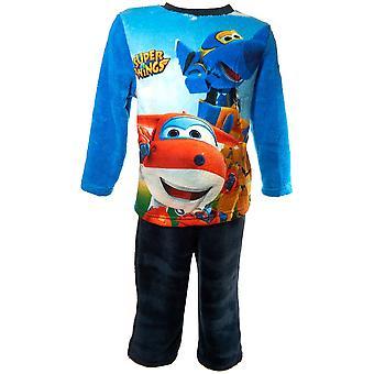 Jongens HQ2180 Super vleugels Fleece lange mouw pyjama's Set