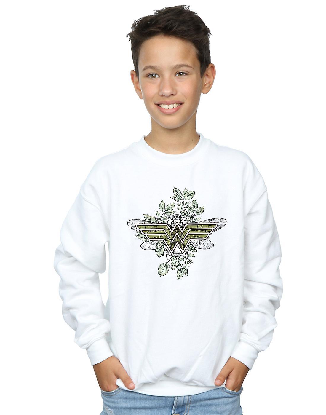 DC Comics Boys Wonder Woman Butterfly Logo Sweatshirt