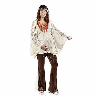 Hippi MOM anya női jelmez a terhes virág gyermek