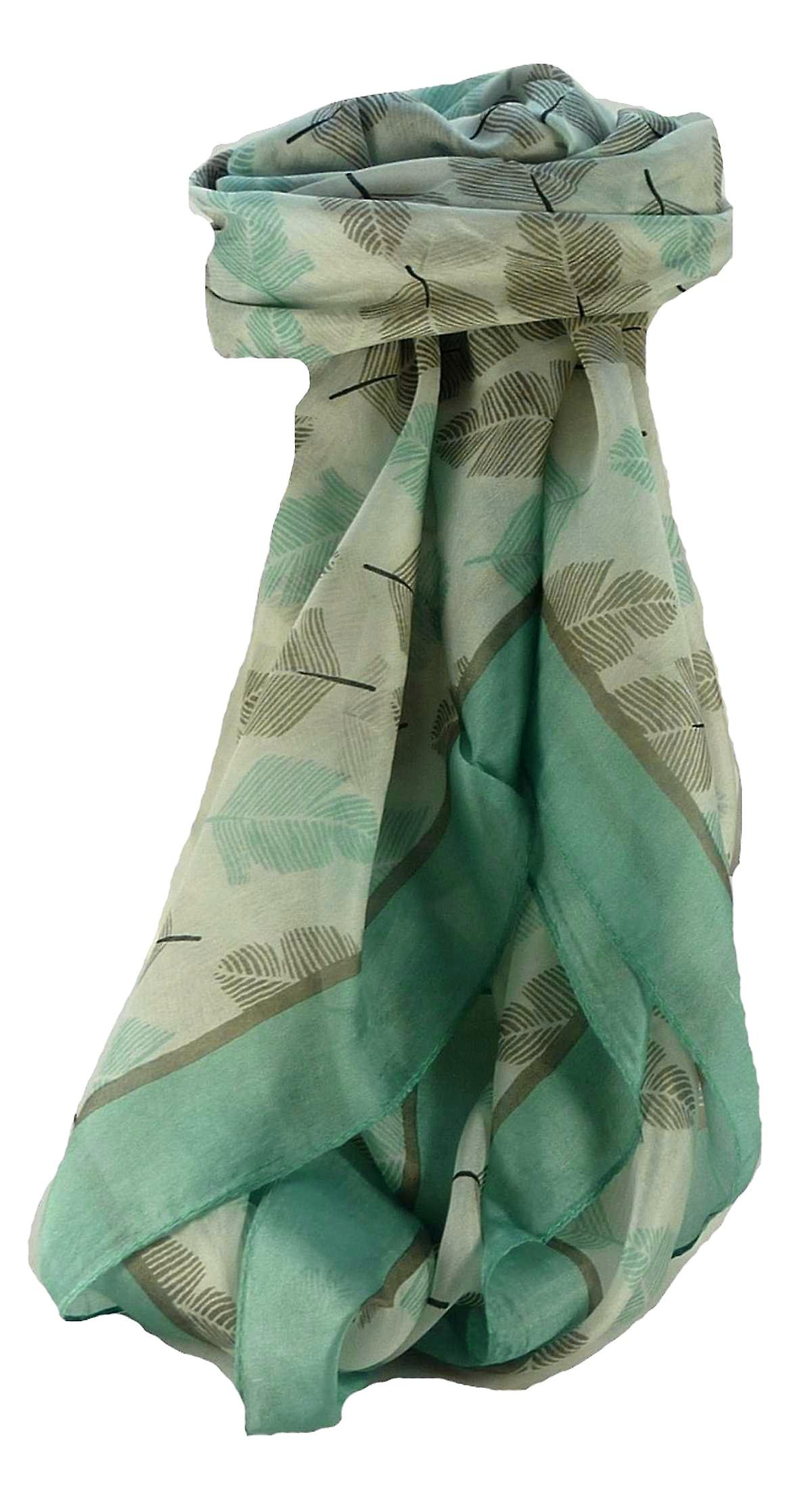 Mulberry Silk Contemporary Square Scarf Floral F228 by Pashmina & Silk